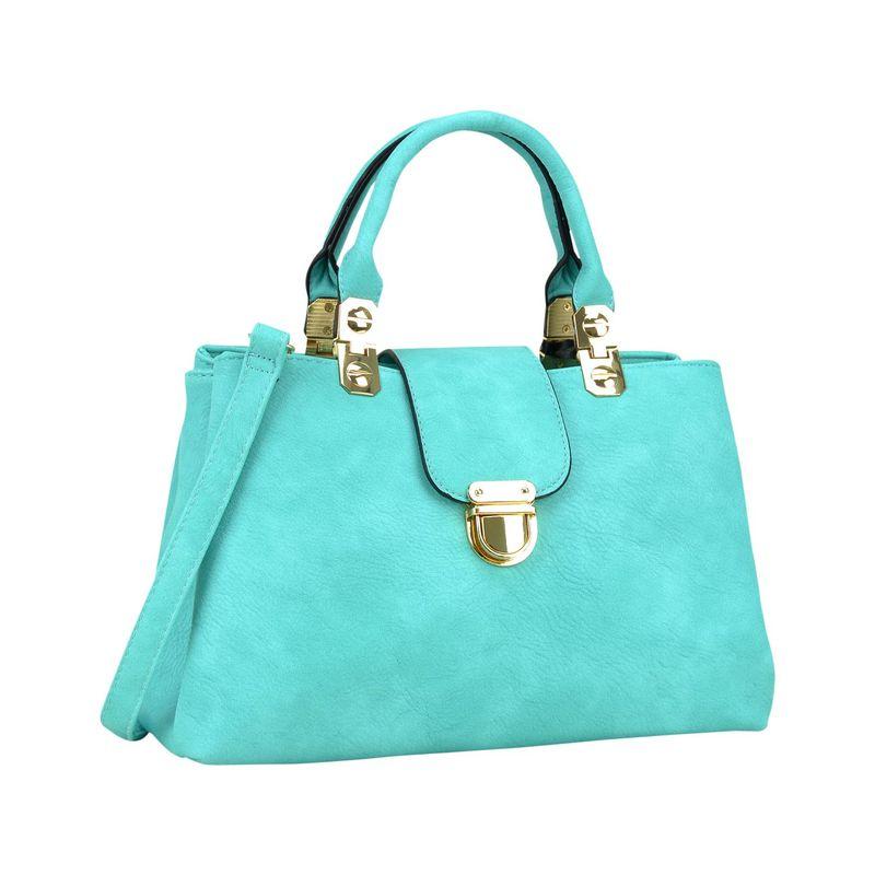 ダセイン メンズ ハンドバッグ バッグ Fashion Double Pocket Satchel Turquoise