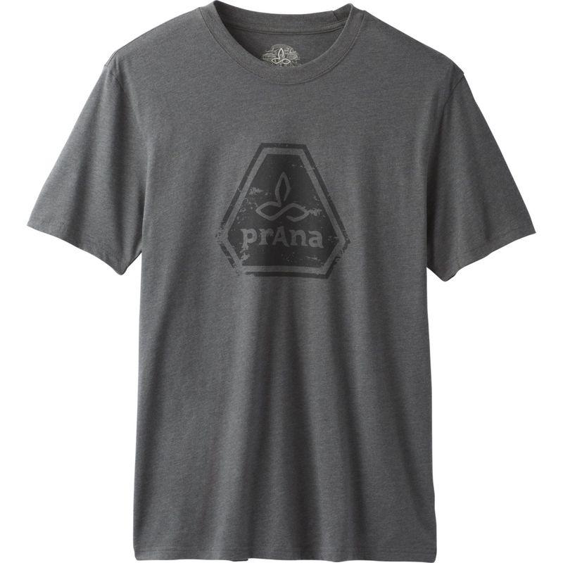 プラーナ メンズ シャツ トップス Prana Icon T-Shirt L - Charcoal Heather