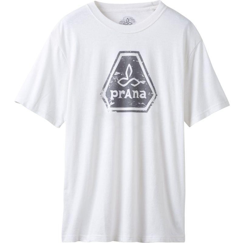 プラーナ メンズ シャツ トップス Prana Icon T-Shirt L - White