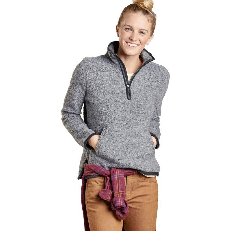 トードアンドコー レディース ニット・セーター アウター Womens Telluride Sherpa Pullover XS - Grey Heather