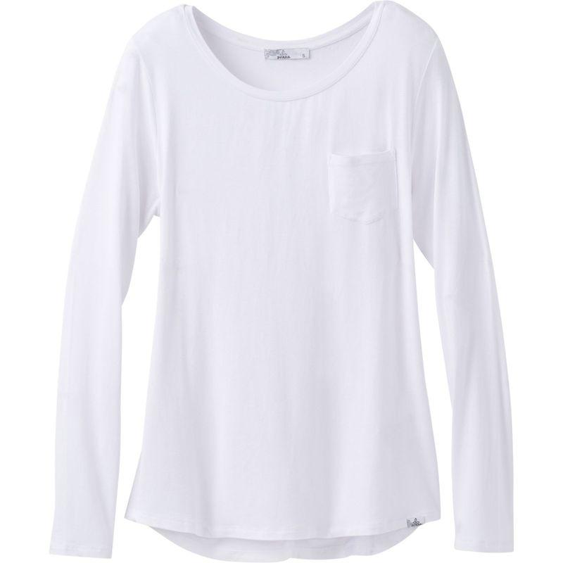 プラーナ レディース シャツ トップス Foundation Long Sleeve Crew Neck Top S - White