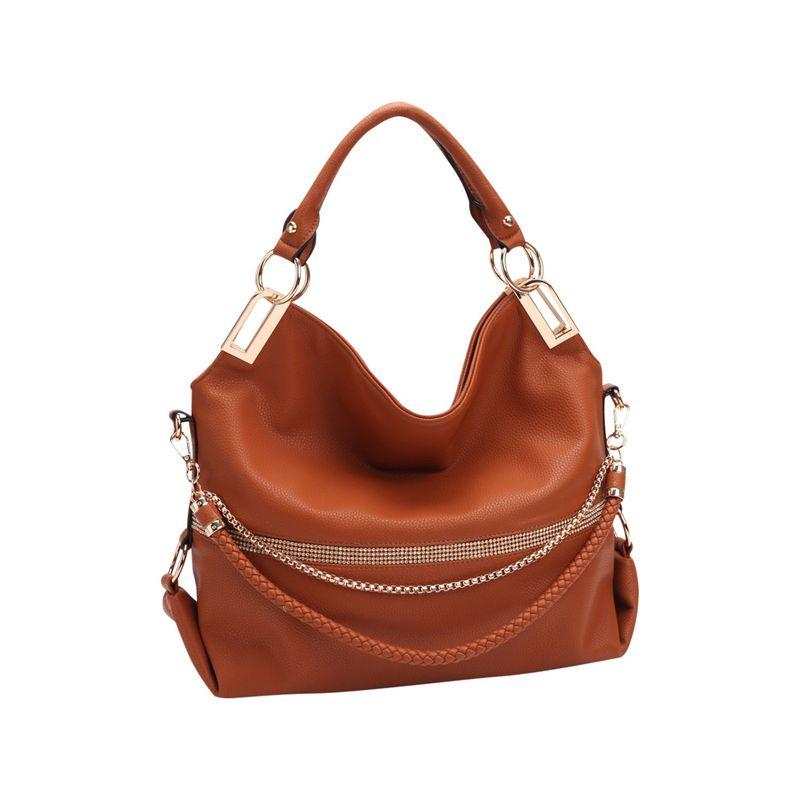 ダセイン メンズ ハンドバッグ バッグ Gold-Tone Quilted Trendy Hobo Bag with Multi Shoulder Straps Brown