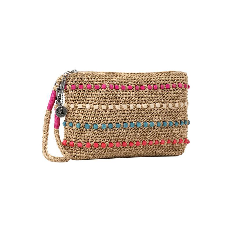 ザサック メンズ セカンドバッグ・クラッチバッグ バッグ Sayulita Crochet Wristlet Camel Multi Wood Beads