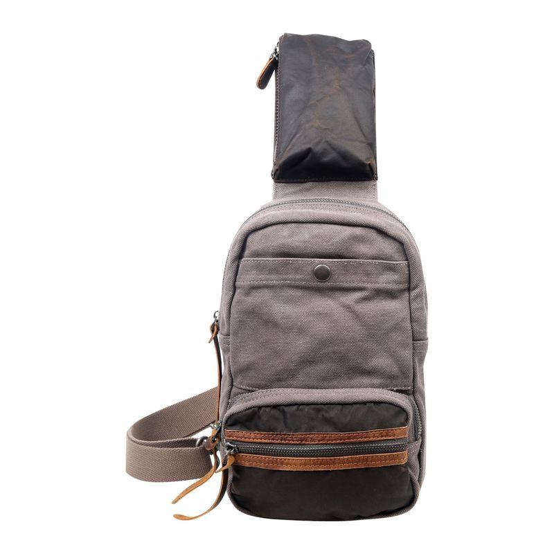 ティエスディー メンズ ショルダーバッグ バッグ Tapa Canvas Sling Bag Grey