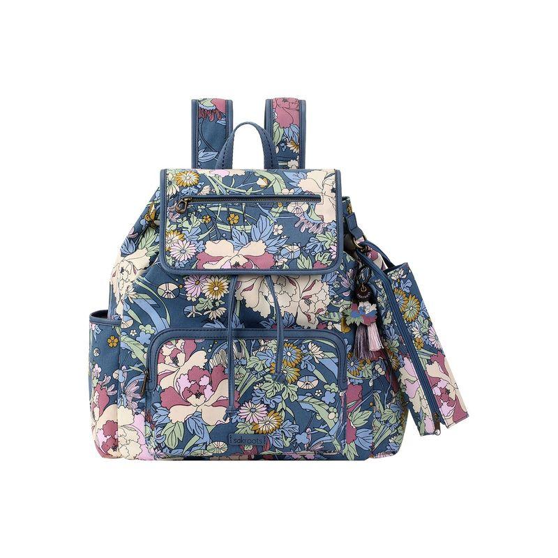 サックルーツ メンズ バックパック・リュックサック バッグ Artist Circle Fleetwood Backpack Denim Flower Power