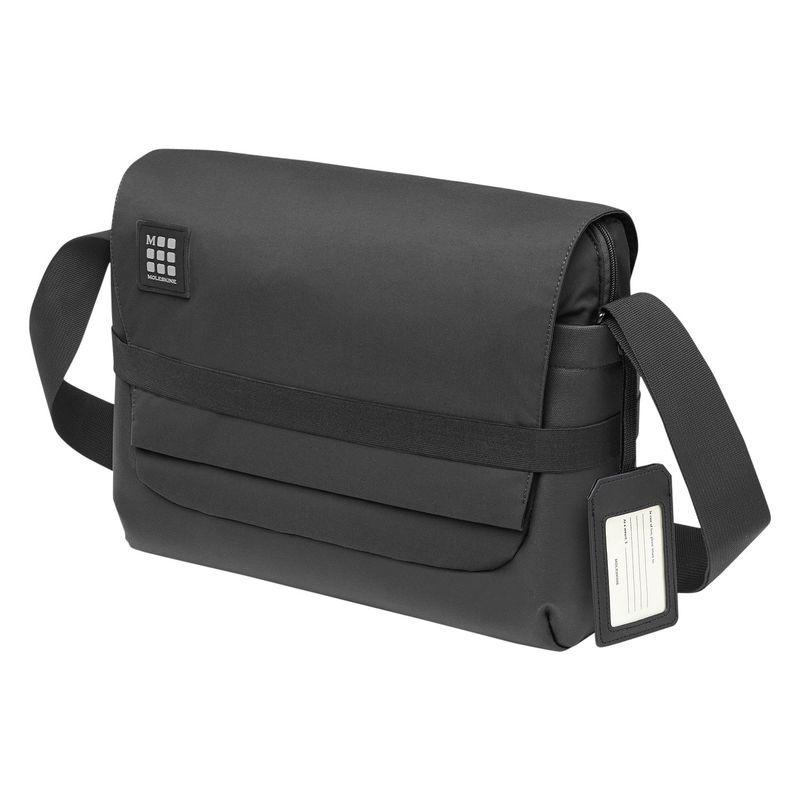 モレスキン メンズ スーツケース バッグ ID Messenger Bag Black