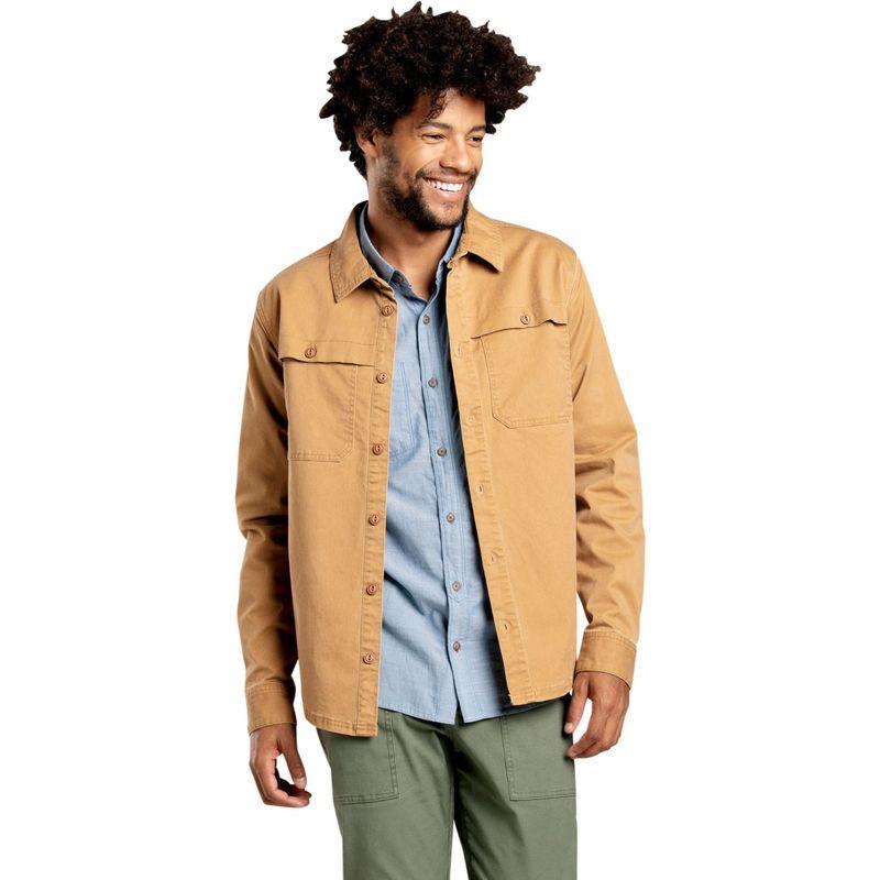 トードアンドコー メンズ ジャケット・ブルゾン アウター Mens Highroad Shirtjac S - Tabac