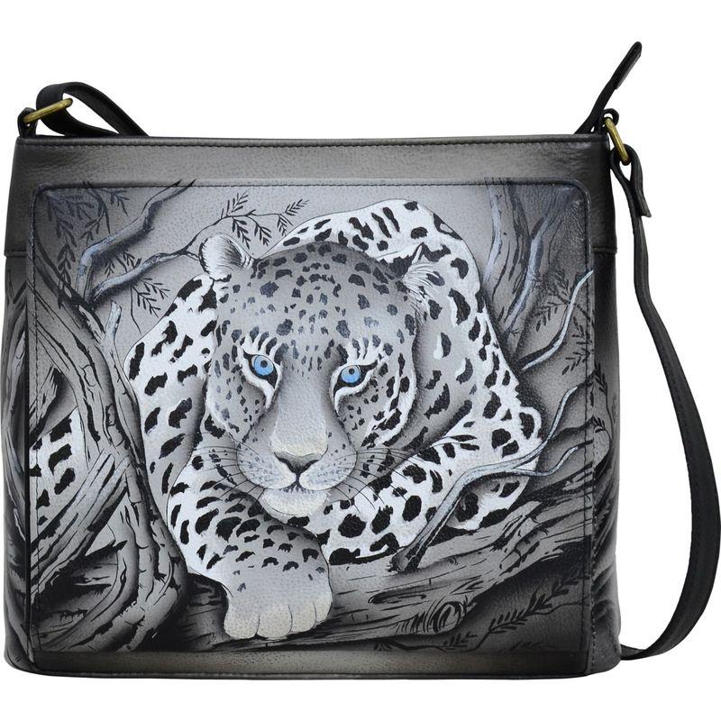 アンナバイアナシュカ メンズ ボディバッグ・ウエストポーチ バッグ Hand Painted Leather Organizer Crossbody African Leopard