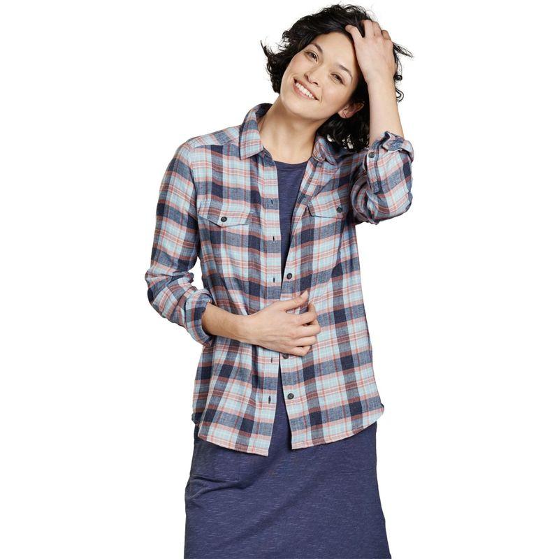 トードアンドコー レディース シャツ トップス Womens Re-Form Flannel Shirt XS - Flint Stone