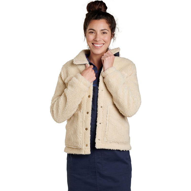 トードアンドコー レディース ジャケット・ブルゾン アウター Womens Hutton Sherpa Jacket M - Salt