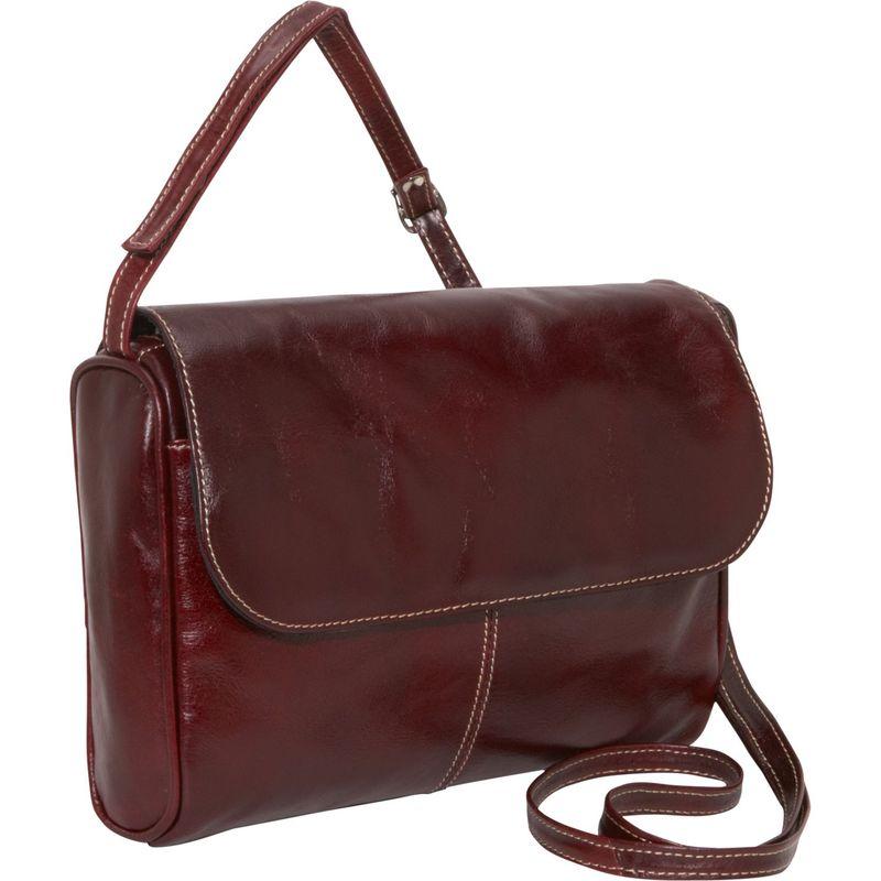 デビッドキング メンズ ボディバッグ・ウエストポーチ バッグ Florentine Flap Front Handbag Cherry