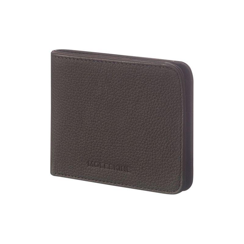 モレスキン メンズ 財布 アクセサリー Lineage Leather Horizontal Wallet Black