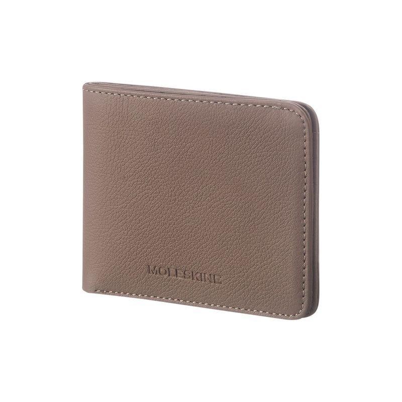 モレスキン メンズ 財布 アクセサリー Lineage Leather Horizontal Wallet Taupe