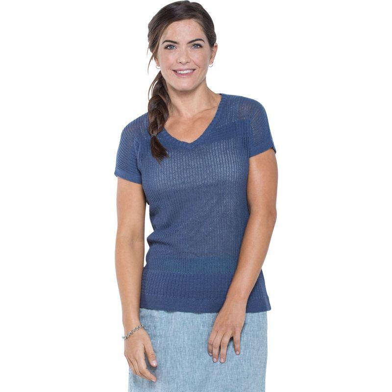 トードアンドコー レディース シャツ トップス Floreana Short Sleeve Sweater XS - Indigo