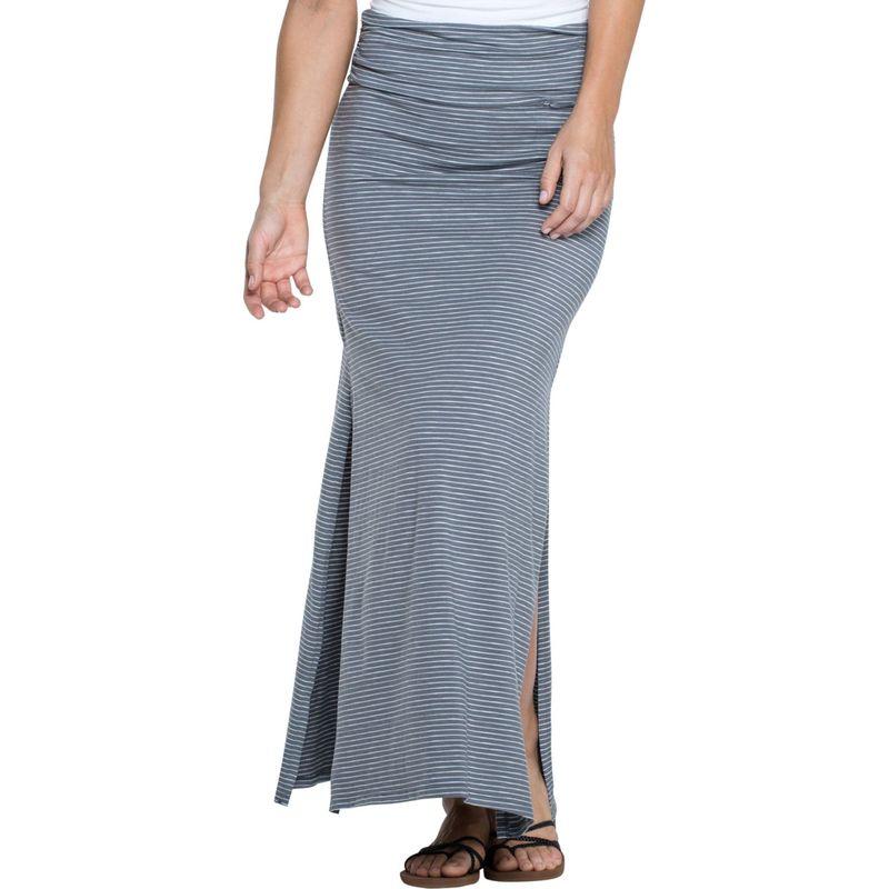 トードアンドコー レディース スカート ボトムス Montauket Long Skirt L - Smoke Lean Stripe