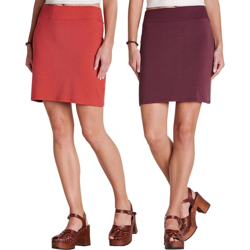 トードアンドコー レディース スカート ボトムス Womens Mirror Reversible Skirt XS - Rhubarb