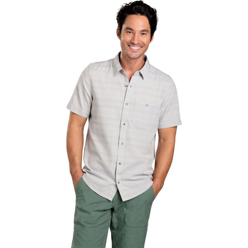 トードアンドコー メンズ シャツ トップス Mens Airlift Short Sleeve Slim Shirt S - Chrome