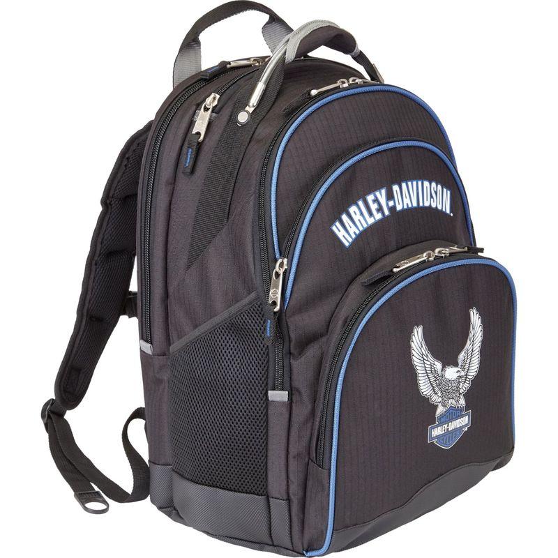 ハーレーダビッドソン メンズ バックパック・リュックサック バッグ Steel Cable Laptop Backpack (Tail of the Dragon) Black