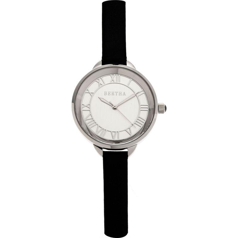 ベルサ メンズ 腕時計 アクセサリー Madison Leather Ladies Watch Black/Silver