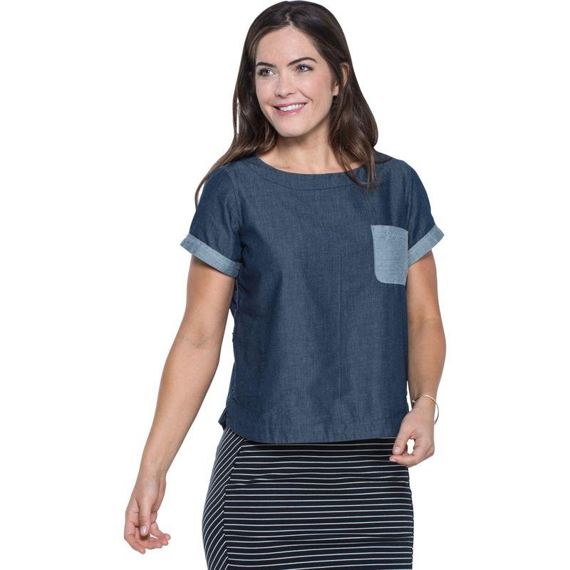 トードアンドコー レディース シャツ トップス Wayfair Short Sleeve Shirt XS - Nightsky