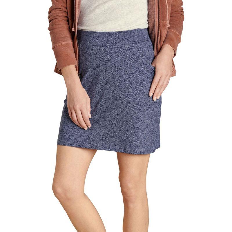 トードアンドコー レディース スカート ボトムス Womens Samba Luna Skirt XS - True Navy Herringbone Print