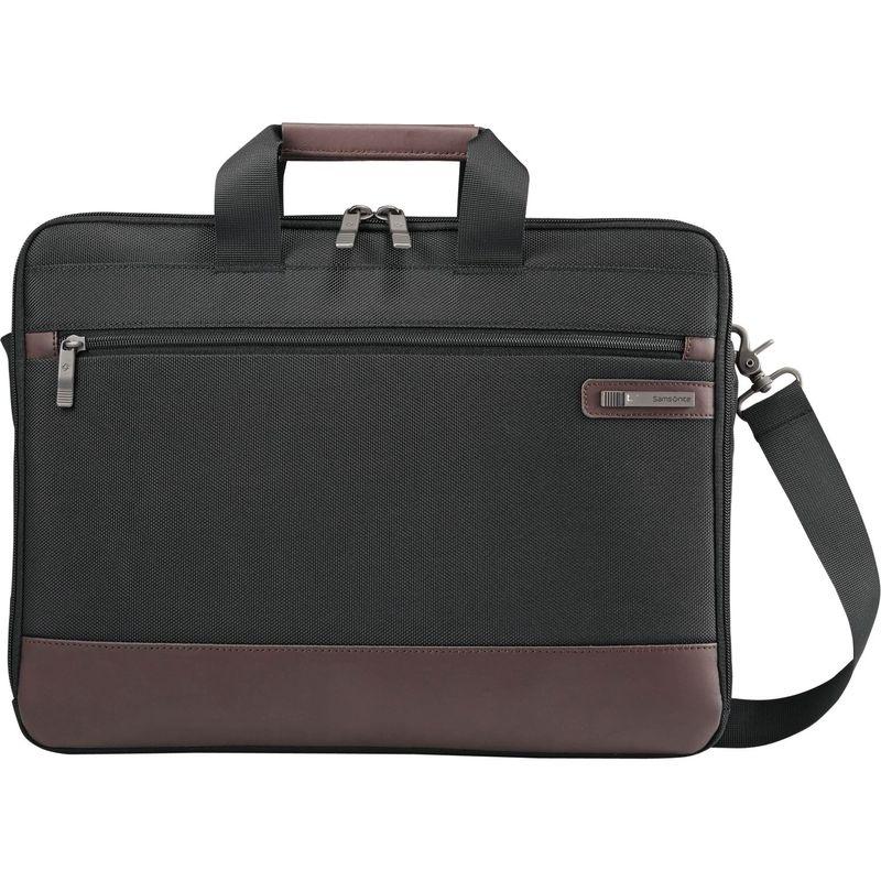 サムソナイト メンズ スーツケース バッグ Kombi Slimbrief Black/Brown