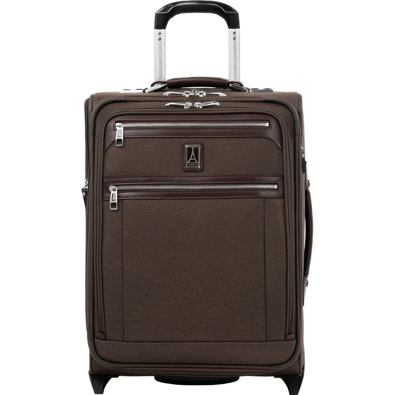 トラベルプロ メンズ スーツケース バッグ Platinum Elite International Expandable Carry-On Rollaboard with USB Port Rich Espresso