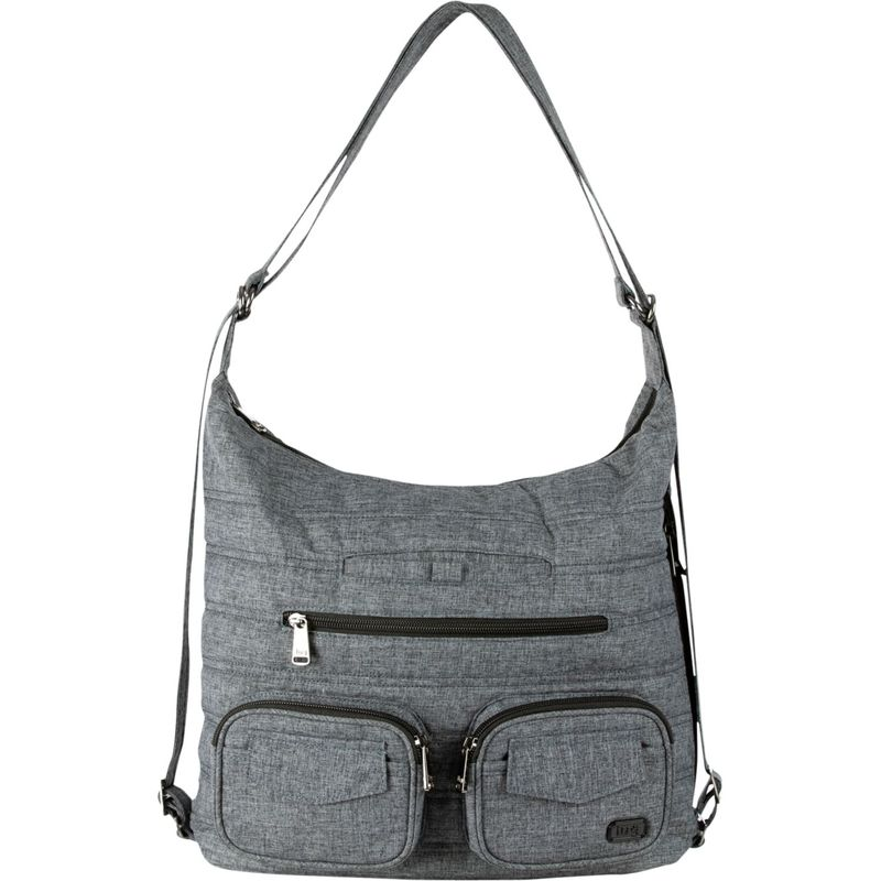 ラグ メンズ ショルダーバッグ バッグ Zipliner Convertible Shoulder Bag Heather Grey