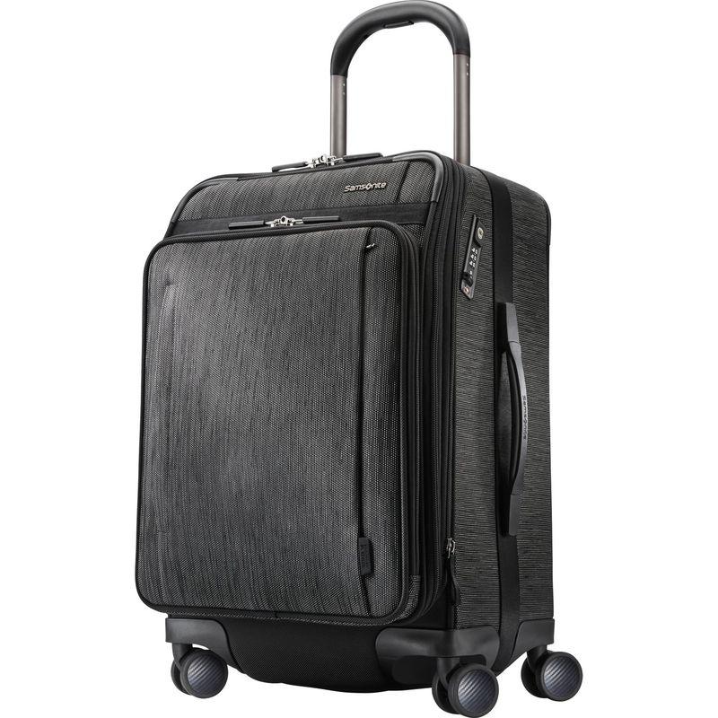 サムソナイト メンズ スーツケース バッグ SXK Collection Global Carry On Expandable Spinner Black/Silver