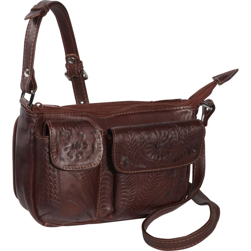 ロピンウェスト メンズ ボディバッグ・ウエストポーチ バッグ Shoulder Bag Brown