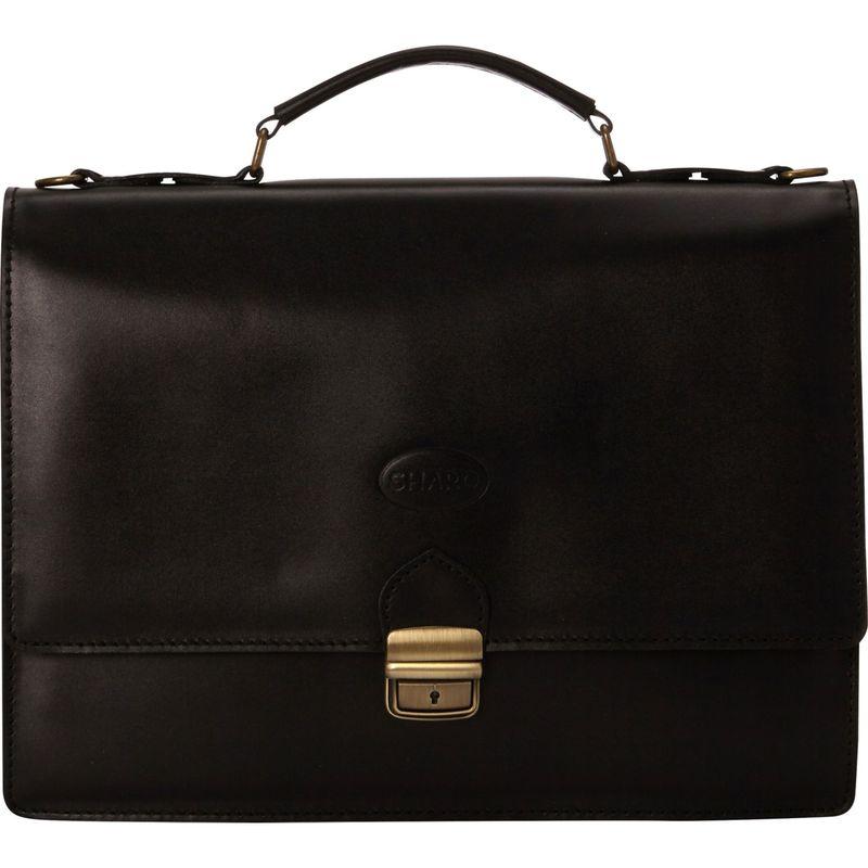 シャロレザーバッグス メンズ スーツケース バッグ Thin Euro Design Laptop Brief Black