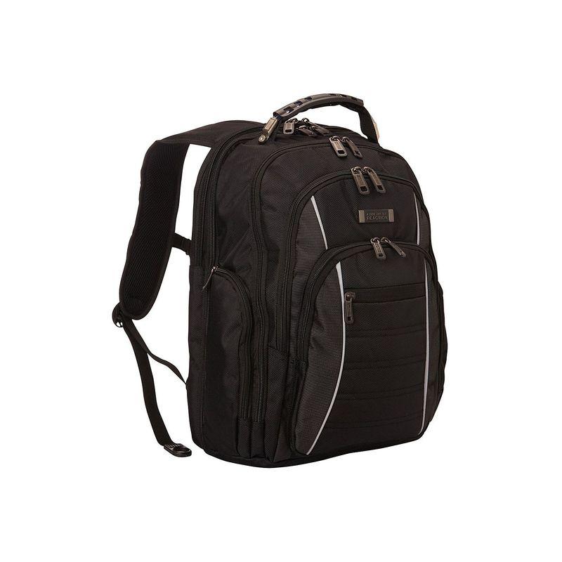 """ケネスコール メンズ バックパック・リュックサック バッグ 1680D Polyester Double Gusset EZ-Scan 15.6"""" Laptop Backpack With iPad/Tablet Pocket Black"""