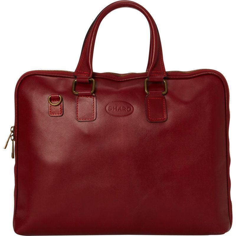 シャロレザーバッグス メンズ スーツケース バッグ Slim Line Professional Briefcase Deep Red