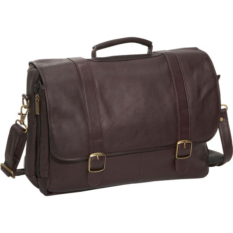 デビッドキング メンズ スーツケース バッグ Porthole Laptop Briefcase Cafe