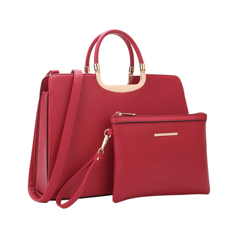ダセイン メンズ ハンドバッグ バッグ Fashion Briefcase Satchel with Matching Accessory Pouch Red