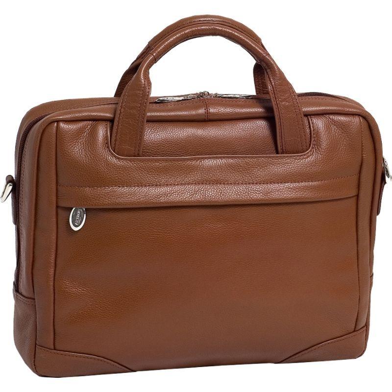 マックレイン メンズ スーツケース バッグ Montclare Leather 13.3 Tablet Brief Cognac