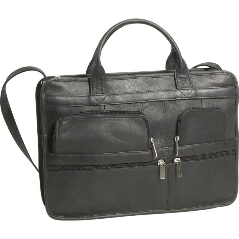 デビッドキング メンズ スーツケース バッグ Multi Pocket Organizer Brief Black