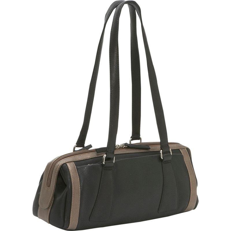 デレクアレクサンダー メンズ ショルダーバッグ バッグ Medium Duffle Handbag Black/Bronze