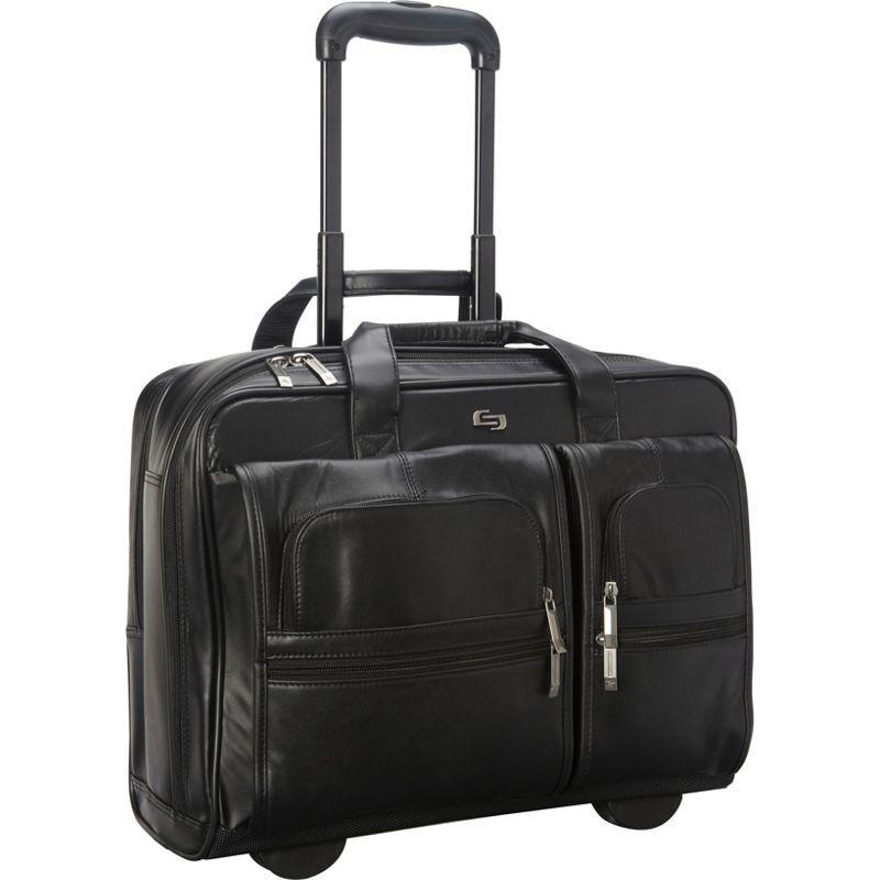 ソロ メンズ スーツケース バッグ Nappa Leather Rolling case Black