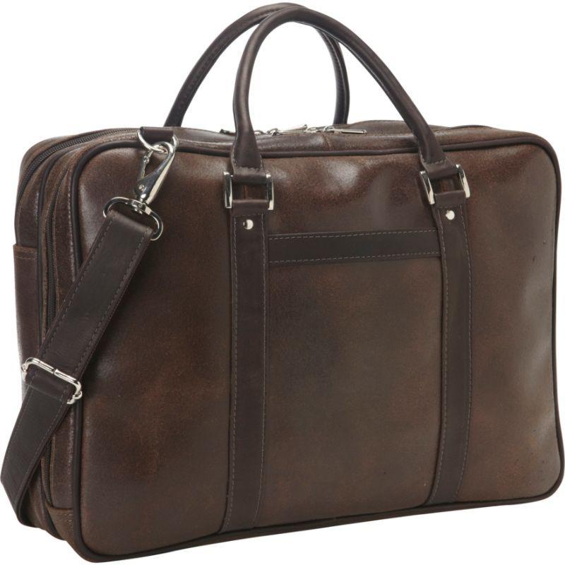 ピエール メンズ スーツケース バッグ Vintage Leather Laptop Brief Vintage Brown