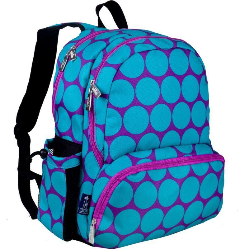 ワイルドキン メンズ バックパック・リュックサック バッグ Kids 17 Inch Backpack Big Dots Aqua