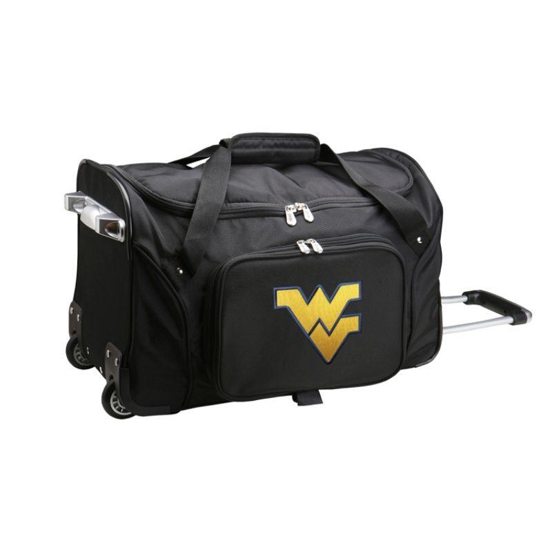 デンコスポーツ メンズ スーツケース バッグ NCAA 22 Rolling Duffel West Virginia University Mountaineers