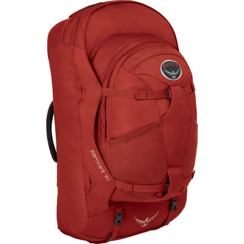 オスプレー メンズ バックパック・リュックサック バッグ Farpoint 70 Travel Laptop Backpack Jasper Red - M/L