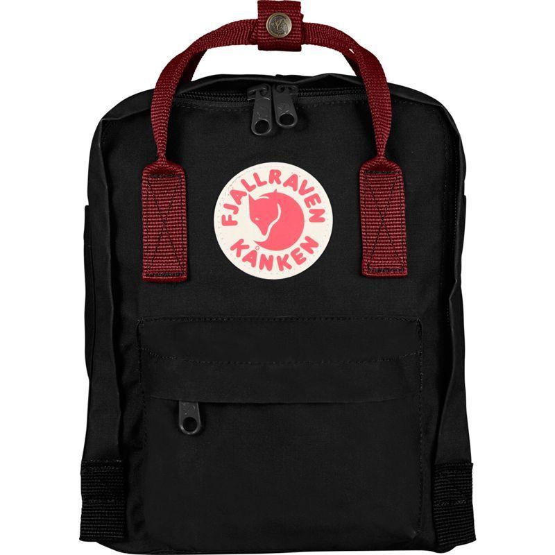 フェールラーベン メンズ バックパック・リュックサック バッグ Kanken Mini Backpack Black-Ox Red