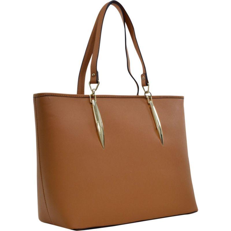 ダセイン メンズ トートバッグ バッグ Large Saffiano Faux Leather Tote with Minimal Accent Hardware Tan