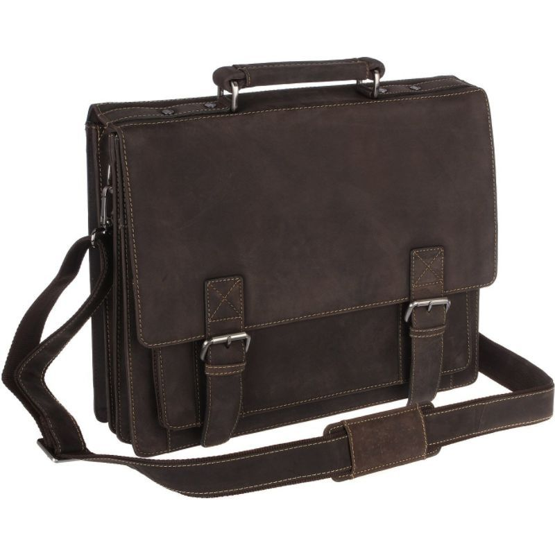 ビスコッティ メンズ スーツケース バッグ XL Business Briefcase Distressed Leather - Hercules Oil Brown