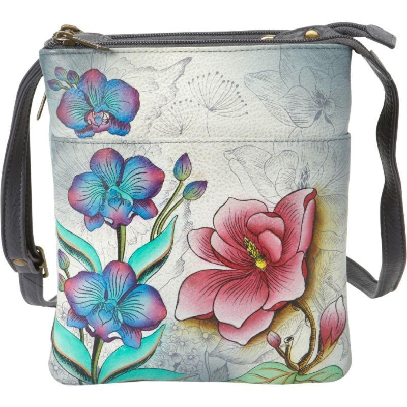 アヌシュカ メンズ ショルダーバッグ バッグ RFID Blocking Triple Compartment Travel Organizer Floral Fantasy