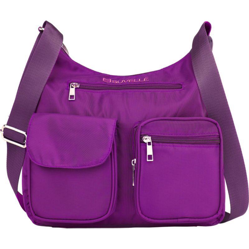 スベル メンズ ショルダーバッグ バッグ Carryall RFID Travel Everyday Shoulder Bag Eggplant