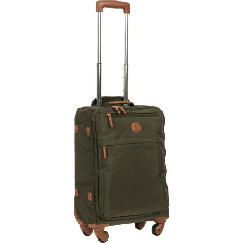 """ブリックス メンズ スーツケース バッグ X-Bag 21"""" Carry-On Frame Spinner Olive"""