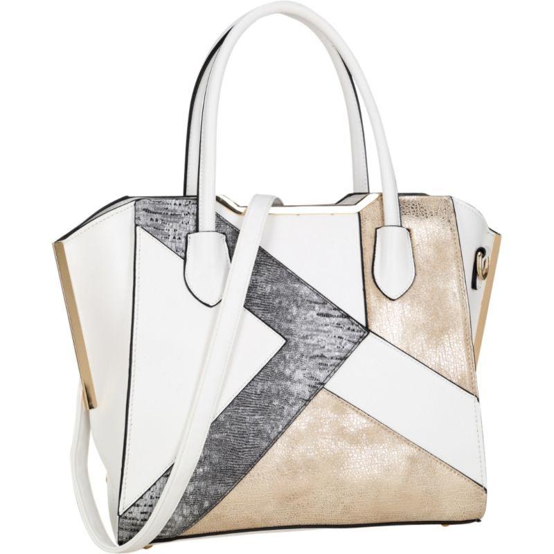 ダセイン メンズ トートバッグ バッグ Tote Bag with Semi Metallic Patch Design White